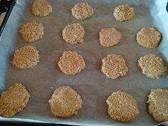 Μπισκότα με βρώμη και ταχίνι φωτογραφία βήματος 5 Krispie Treats, Rice Krispies, Sweet Recipes, Muffin, Anna, Breakfast, Desserts, Food, Morning Coffee