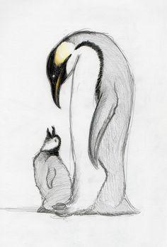 Tattoo - Parental Penguin by BananaGoddess.deviantart.com