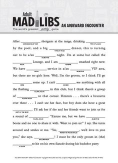 It is a graphic of Remarkable Mad Libs for Adults Printable