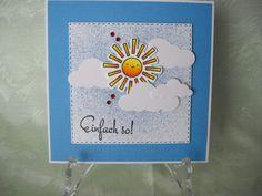 Grußkarte, Glückwunschkarte, Sonne, Einfach so! von CreativeArtsbyme auf Etsy