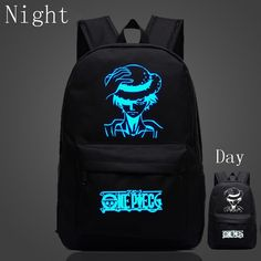 35fe311537a 2017 New Japan Anime One Piece Bags For Teenagers Luffy School Bags Children  Luminous Backpack Men Women Shoulder Bags Gifts