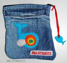tasche di jeans riciclate
