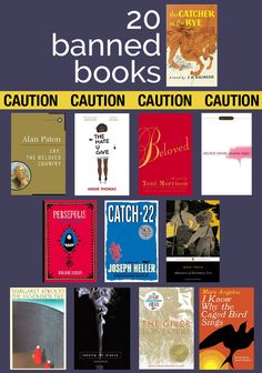 20 books worth your reading time that have been banned at some point – Modern Mrs. Darcy 20 books worth your reading time that have been banned at some point – Modern Mrs. Best Books To Read, I Love Books, Good Books, My Books, Best Books Of All Time, Good Novels To Read, Book To Read, Books That Are Movies, Books To Read In Your 20s