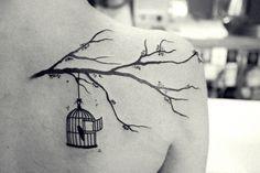 bird cage tattoo | Tumblr