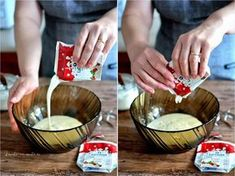 Cum se face frişca din smântână - reţeta pas cu pas Serving Bowls, Sweet Tooth, Cooking Recipes, Ice Cream, Tableware, Desserts, Puddings, Cakes, Drink
