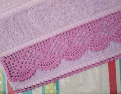 Crochet Towel, Crochet Lace Edging, Crochet Borders, Thread Crochet, Crochet Doilies, Hand Crochet, Crochet Stitches, Doily Patterns, Embroidery Patterns