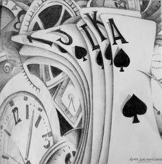 Dibujo °con el tiempo no se juega° Laura Langman