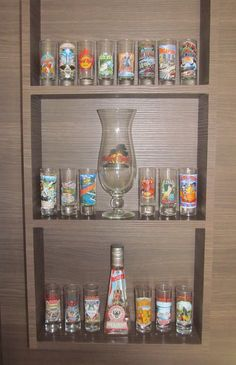 Shot glasses collection