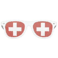 460e17fb5a9 Flag of Switzerland Retro Sunglasses - country gifts style diy gift ideas  National Flag