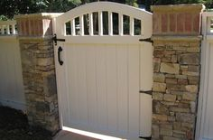White Gate  Gates and Fencing  Outside Landscape Group, LLC  Alpharetta, GA