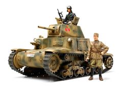 35296 Tamiya Итальянский танк CARRO ARMATO M13/40 (2 фигуры) Масштаб 1/35