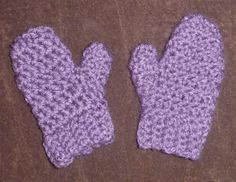 Purple Mittens with thumb optional string size by megscutekidshop, $12.00
