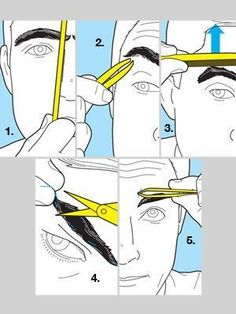 Some of the guy's might need this. U.U: Men Eyebrows Grooming, Guys Eyebrows, Eyebrow Grooming, Male Grooming, Men Style Tips, Laser Hair Removal, Hair And Beard Styles, Facial Hair, Style Guides