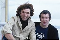 Martin Shaw and Lewis Collins.  I love this smily pic.