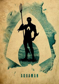 Aquaman Justice League Minimalist Poster by moonposter on Etsy