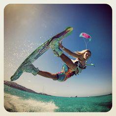 Kite girl  | Learn kitesurfing with Addict www.addictkiteschool.com |