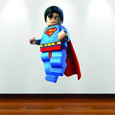 superhero lego bedroom | ... Colour Wall Art Sticker Superhero Child Bedroom Decal Mural Graphic