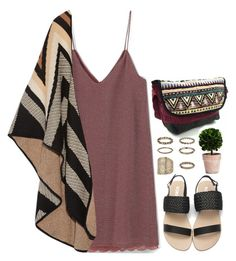 """""""Tribalover 3"""" by emilypondng ❤ liked on Polyvore featuring MANGO, Mara Hoffman, Topshop and tribalover"""