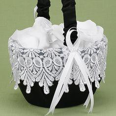 Timeless Treasure Flower Basket - Black