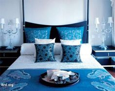 Bedroom:Blue Bedroom Design Ideas: Perfect Interior Combination! Simple Blue Bedroom Decorating Ideas #5