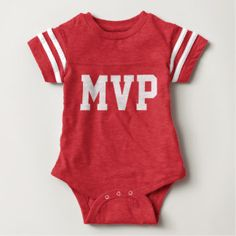 Baby MVP Football Jersey Bodysuit (Front Only)