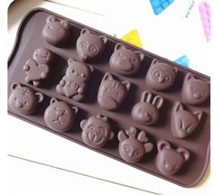 15 Cute Animal Silicone Cake Mould Baking Chocolate Ice Cube Tray Frog Owl