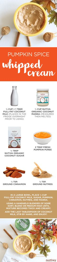 Pumpkin Spice Whipped Cream kitchen.nutiva.com