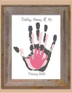 daddy, mommy, me, handprint