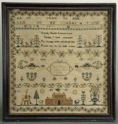 Schoolgirl Needlework Sampler dated 1818 : Lot 140
