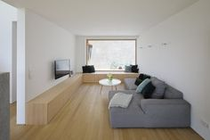 Haus DB Klaus — ARCHITEKTUR Jürgen Hagspiel Concrete Wood, House On A Hill, Cabana, Floor Chair, Living Room, Interior, Furniture, House Ideas, Houses