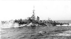 HMS Swale, a River Class Frigate.151 River Class frigates were launched between '41 and '44 for use as convoy escorts in the North Atlantic. The majority served with the RN & RCN, some served with other Allied navies. They were designed by William Reed to have the endurance and anti-submarine capabilities of the Black Swan-class sloops, while being quick and cheap to build in civil dockyards using the machinery and construction techniques pioneered in the Flower-class corvettes.