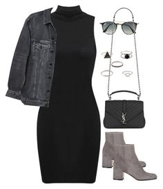 """Untitled #193"" by diana-arlin ❤ liked on Polyvore featuring Y/Project, Gianvito Rossi, Ray-Ban and Yves Saint Laurent"