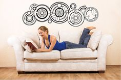 Gallifreyan REMOVABLE Wall Art Words Decal - Any Color
