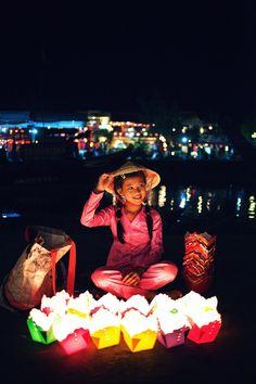 Lantern Seller in Hoi An, Vietnam