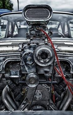 pimped Blown Buick Nailhead - love the engineering muscle car engine detail photo power valve piston air intake Motor Stirling, Buick Nailhead, Led Stripes, Bmw Autos, Auto Motor Sport, Us Cars, Sport Cars, Drag Cars, Car Engine