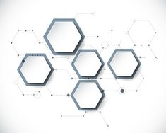 Vector molecule with paper label, integrated Hexagon background. 3d Design, Pattern Design, Best Workplace, Hexagon Shelves, Cartoon Gifs, 3d Paper, Sticker Paper, Royalty Free Images, Diagram