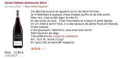 SAQ Saint Chinian, Marie, Wine