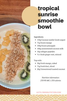 We're sharing a few macro-friendly smoothie bowl recipes that are high in protein and will help you meet your macro goals while still keeping you full and satisfied! Check out our blog article for more high protein, low calorie smoothie bowl recipes that will be sure to hit the spot and help with your weight loss goals at the same time. #fatloss #katelyman #countingmacros #weightloss #easymealprep Pb And J Smoothie, Smoothie Bowl, Smoothie Recipes, Low Calorie Smoothies, High Calorie Meals, Macro Meals, Macro Recipes, Meal Plan Printable, Eating After Workout