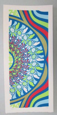 Original silkscreen concert poster for Phish on July 16th and 17th at The Verizon Wireless Amphitheatre at Encore Park in Alpharetta, GA in 2013. It is printed on Watercolor Paper with Acrylic Inks and measures around 10 x 22 inches.  Print is signed and numbered out of 140 by the artist Tripp.