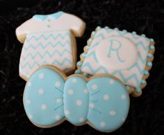Baby Shower Cookies Little Man Bow Tie by 4theloveofcookies