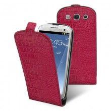 Funda Galaxy S3 Muvit - Slim Croco Fucsia con Film Protector  AR$ 115,64