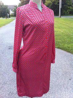 Pretty vintage Lady Blair shirt dress in silky by Mad4ModMalissa, $35.00