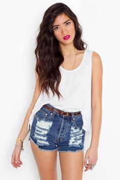 high wasted cutoff short  i want these so much. ive been looking everywhere. i might resort to cutting off thrifted high wasted pants...
