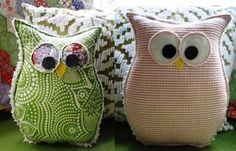 Búho de patchwork | Aprender manualidades es facilisimo.com