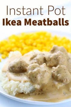Instant Pot Ikea Meatballs–tender and delicious bite size meatballs with savory cream gravy. They taste just like what you can order at Ikea! Cooking Recipes For Dinner, Pressure Cooking Recipes, Instant Pot Dinner Recipes, Quick Dinner Recipes, Entree Recipes, Quick Meals, Slow Cooker Recipes, Meat Recipes, Copycat Recipes