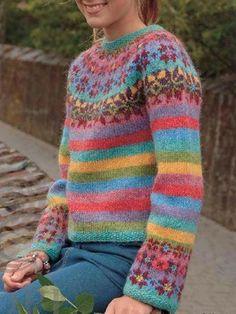 Your Shopping Cart – Annie Cloth Fair Isle Knitting Patterns, Fair Isle Pattern, Knitting Designs, Tejido Fair Isle, Punto Fair Isle, Vintage Knitting, Hand Knitting, Norwegian Knitting, Icelandic Sweaters