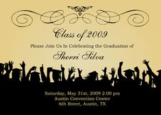 free graduation templates downloads | FREE wedding invitation graduation announcement diy templates - Salon ...