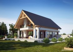 Projekt domu LK&1346 Rest House, My House, Best Small House Designs, American Houses, Home Fashion, Exterior Design, Future House, Architecture Design, House Plans