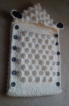 Ravelry: Sheep Baby Sleep Sack pattern by Alicia Cromwell Baby Bunting, Baby Patterns, Baby Knitting Patterns, Crochet Patterns, Crochet Ideas, Crochet Sheep, Kids Crochet, Crochet Baby Cocoon, Baby Blanket Crochet