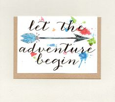 Items similar to LET the ADVENTURE BEGIN . australia on Etsy New Baby Cards, Your Cards, Goodbye Cards, Baby Congratulations Card, Good Luck Cards, Affirmation Cards, Paper Packaging, And So The Adventure Begins, Paper Envelopes